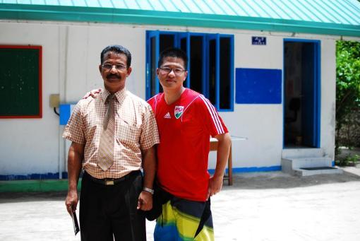 Kamadhoo學校來自印度的校長