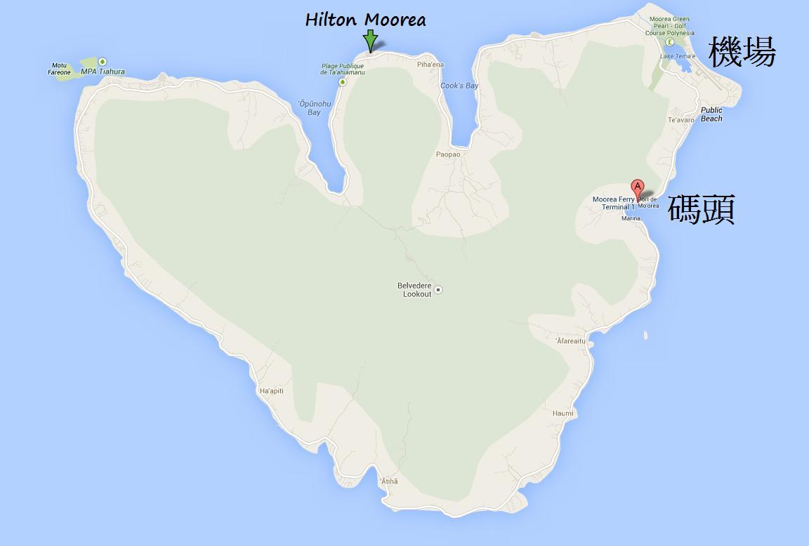 Hilton Moorea Lagoon Resort 田 海區