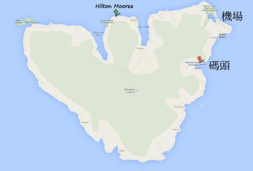 Moorea Map